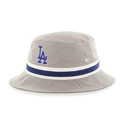 Galleon -  47 Los Angeles Dodgers Gray Striped Brand Bucket Bright Hat 3a31639e394