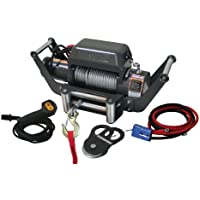 Champion Power Equipment 10587 Winch with Speed Mount Hitch Adapter - 10,000 lb Capacity