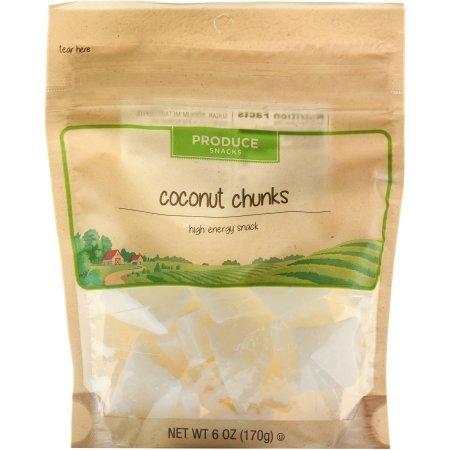 Produce Snacks Coconut Chunks 6 oz, one bag