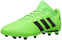 Adidas Unisex-kids Nemeziz Messi 18.3 Firm Ground Soccer Shoe, Solar Greenblacksolar Green, 3.5 M Us Big Kid