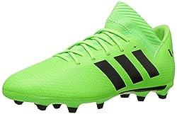 Adidas Unisex-kids Nemeziz Messi 18.3 Firm Ground Soccer Shoe, Solar Greenblacksolar Green, 3.5 M Us Big Kid
