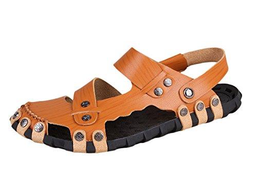 Icegrey - Sandalias de vestir de Material Sintético para hombre caqui