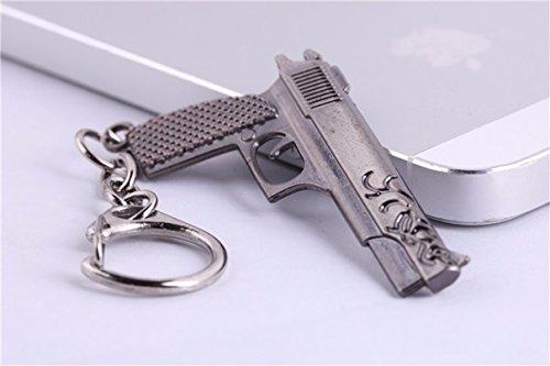 1 Pc Mini Pocket Shooter Rifle Keychain Keyring Keyfob Gun Pendant Keys Chains Rings Tags Strap Wrist Distinguished Popular Cute Wristlet Utility Keyrings Tool Teenagers Teen Women Girls Gift, Type-12 -