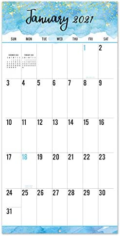 Amazon Com 2021 2022 Calendar 18 Month Wall Calendar Jan 2021 Jun 2022 Large Print Big Grid Wall Calendar 12 X 24 Open Thick Sturdy Paper Oversized Blocks Perfect For Organizing Planning Office Products