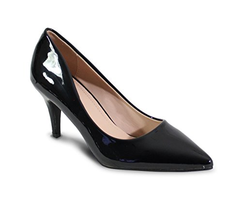 Talon By Vernis Escarpin Style Femme Shoes Bas Black EEa4Fnzqr