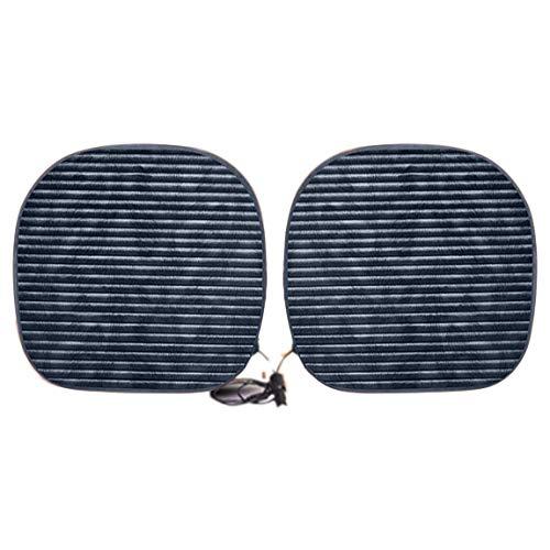 Cojín del asiento de calefacción para el automóvil del automóvil en el asiento pequeño Cojín cuadrado para el...