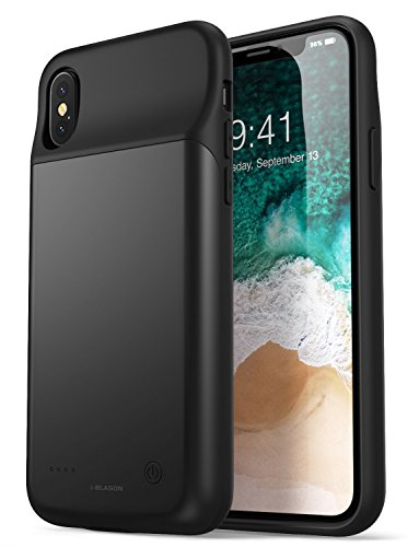 iPhone X Battery Case/iPhone Xs Battery Case 3200mAh, i-Blason External Protective Battery Case for Apple iPhone X/iPhone Xs Battery Charger Case [Compatible with EarPods] [Ultra Slim] (Black)