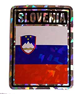Albatros 6 pack slovenia country flag reflective decal bumper sticker for home for Country garden 6 pack