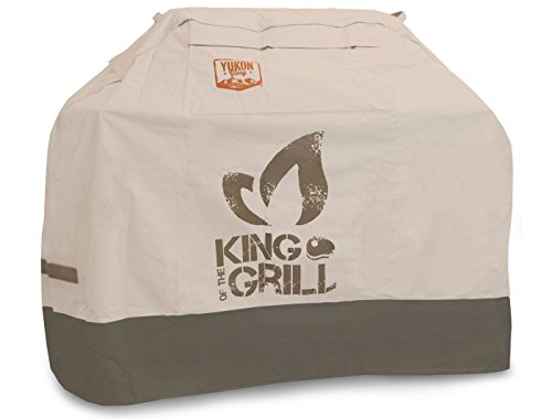 Yukon Glory Original 8252 Premium - Medium -Universal Cover with Unique Dual Strap System. Fits Grills up to 64 Inches Wide Including Weber, Holland, Jenn Air, Brinkmann,Char Broil - King of The Grill