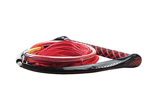Hyperlite Apex PE EVA Handle with Maxim Rope for Waterski Boat - Red
