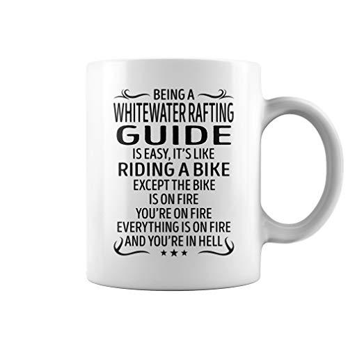 Whitewater Rafting Guide Riding Bike Job Title Mug - Coffee Mug (White) ()