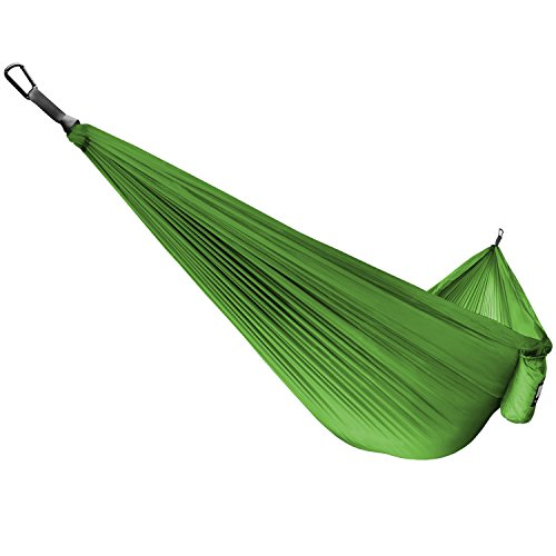 Fremont Single & Double Camping Hammocks – Top Rated Gear for Camping Survival & Travel – Portable Lightweight Parachute Nylon – Includes Ropes and Carabiners