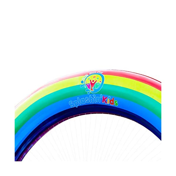 Splashin'kids Outdoor Rainbow Sprinkler Super Toddler Water Toys for Children Infants Boys Girls and Kids Perfect Outside Inflatable Water Park for Summer Fun Watch Video Slip and Slide Splash pad 10