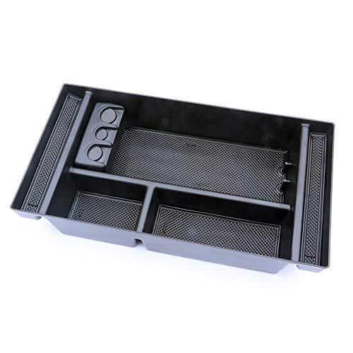 Car Center Console Organizer Tray for 2019 Chevy Silverado 1500/ GMC Sierra 1500 2019 GM Vehicles Accessories (Full Console w/Bucket Seats ONLY) (Car Center Gm)
