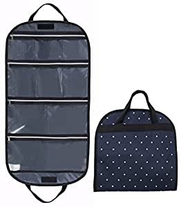 misslo hanging jewelry organizer 9 zippered pockets travel roll up bag for necklace. Black Bedroom Furniture Sets. Home Design Ideas