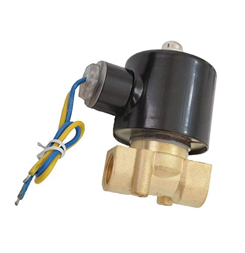 - 3/8 Inch Electric Solenoid Valve 24V DC Air Water Fuel Gas Diesel Normally Closed NPT
