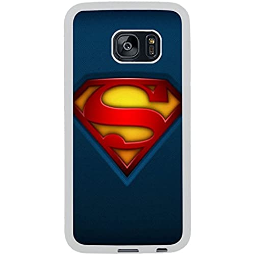 Fabric Superman Logo White Shell Phone Case Fit For Samsung Galaxy S7 Edge,Beautiful Cover Sales