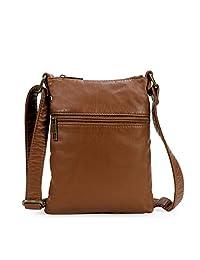 Scarleton Soft Washed Simple Front Zip Crossbody Bag H1811