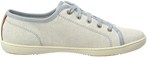 With Femme stone Canvas Natural Tan Bleu Blue Canvas Timberland Mayport E42 Richelieus 7wq87Ogp