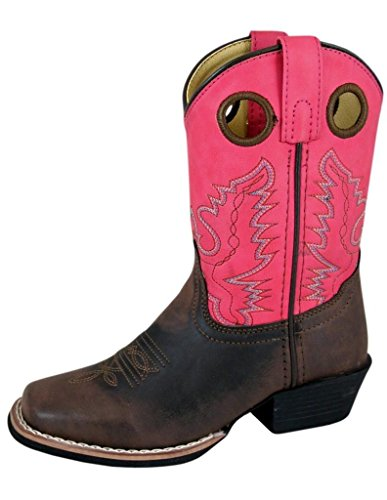 Image of Smoky Mountain Childs Memphis Sq Toe Boot Tan/Light Tan