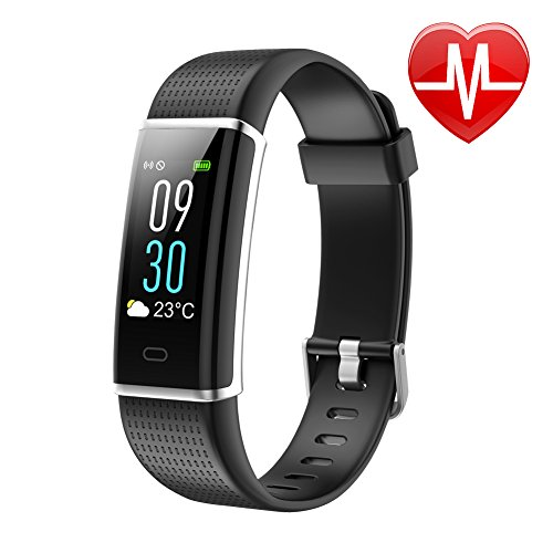 Letsfit Waterproof Fitness Tracker With Heart Rate Monitor  Color Screen Fitness Watch  Smart Bracelet With Sleep Monitor  Step Counter  Pedometer Watch For Kids Women And Men  0 96  Screen  Black