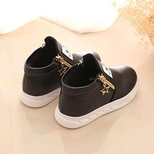 , Black Infant Kids Crystal Bowknot LED Luminous Boots Outsta Baby Girls Sport Shoes Anti-Slip Shoes Soft Sole Sneakers US:9