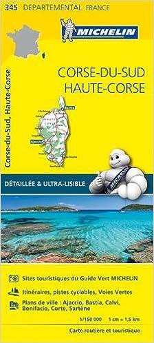 Amazonfr Carte Corse Du Sud Haute Corse Michelin