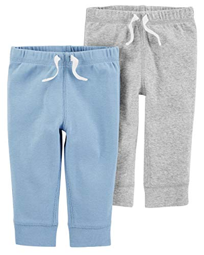 - Carter's Baby Boys' 2-Pack Pants (Heather/Blue, 3 Months)