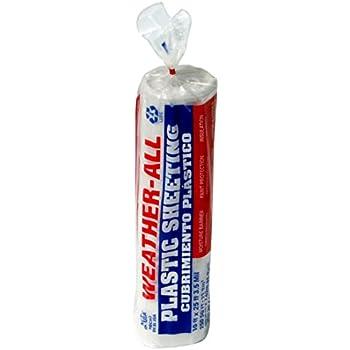 trm 351025c weatherall visqueen plastic sheeting drop cloth 10u0027 wide x 25u0027