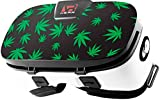 Stickers for Virtual Reality Goggles by VR WEAR 3D VR Glasses for iPhone 6/7/8/Plus/X & S6/S7/S8/Note and Other Android Smartphones with 4.5-6.5' Screens - Cannabis