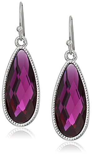 1928 Jewelry Silver-Tone Purple Elongated Teardrop (Elongated Teardrop Ring)