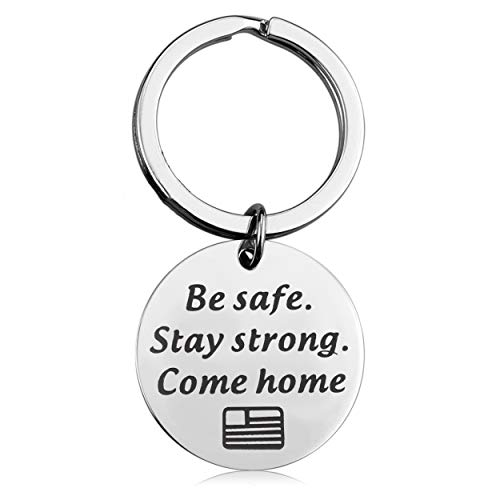 Lywjyb Birdgot Deployment Gift Military Gift Air Force Gift Be Safe Stay Strong Come Home Deployment Keychain Army Keychain Navy Keychain Gift for Husband Boyfriend (Stay Strong)