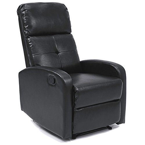 Best Choice Home Theater PU Leather Recliner Black (Large Image)