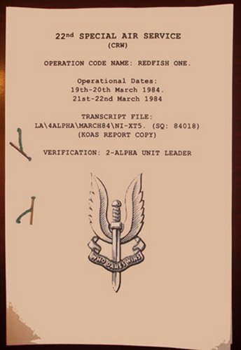 RED FISH ONE: Army Transcript.: SAS: HOS - Special Air Service Shopping Results