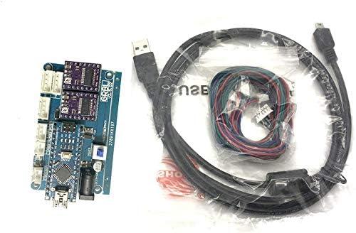 Nadalan Tablero de control de GRBL DIY Máquina de grabado láser USB Micro 2-eje de control de accionamiento de motor paso a paso 12V con software: Amazon.es: Oficina y papelería