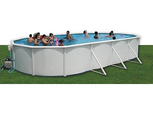 TOI - Piscina desmontable ovalada + kit de verano y tapiz - 550X366X120: Amazon.es: Juguetes y juegos