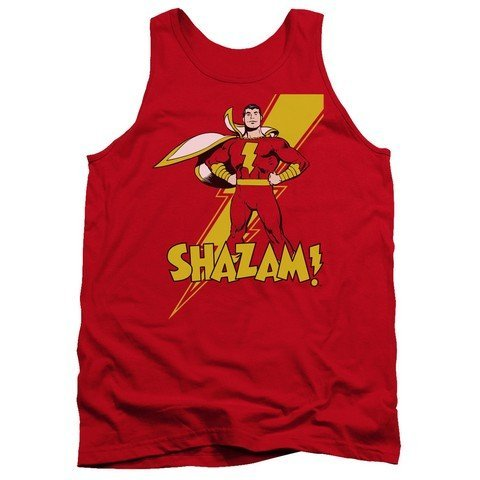 Red44; Large Trevco Dc-Shazam Adult Tank Top