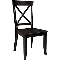 Home Styles 5178-802 Dining Chairs, Black Finish, Set of 2