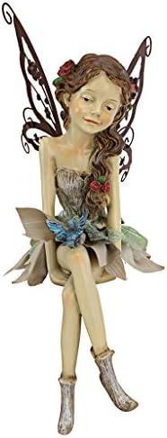 Design Toscano HF326063 Fannie the Garden Fairy Sitting Statue
