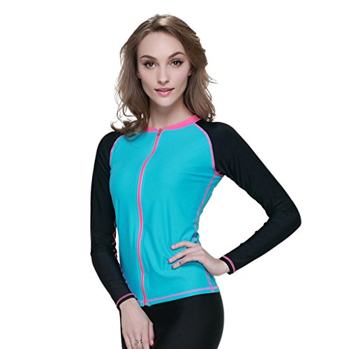Newstep Women's Sun Protective Stinger Suit Dive Skin Top Black Small
