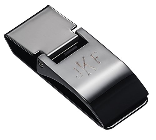 Personalized Visol Calvin Gunmetal Hinged Money Clip with Free Engraving from Visol