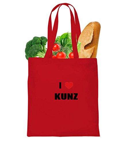 I LOVE KUNZ FAMILY NAMES Tote Bag