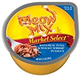 Meow Mix Market Select with Real Tuna and Whole Shrimp in Sauce Cat Food 2.75 oz, My Pet Supplies