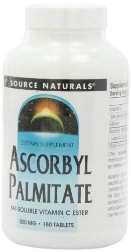 Source Naturals Ascorbyl Palmitate 500mg Fat-Soluble Vitamin C Ester Supplement - 180 Tablets