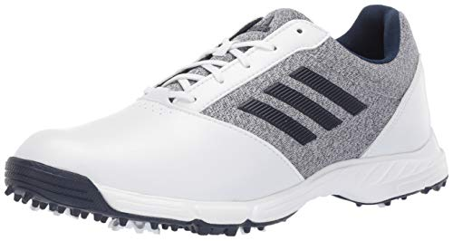 adidas Womens TECH Response Golf Shoe, White/Silver Metallic/Indigo, 9 M ()