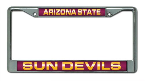 Arizona Frame (NCAA Arizona State Sun Devils Laser Cut Chrome Plate Frame)