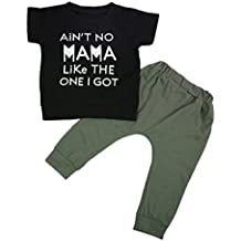 Moore Baby Kids Toddler Boy Printed Tops Pants Leggings Outfits Clothes Set 0-3 Y
