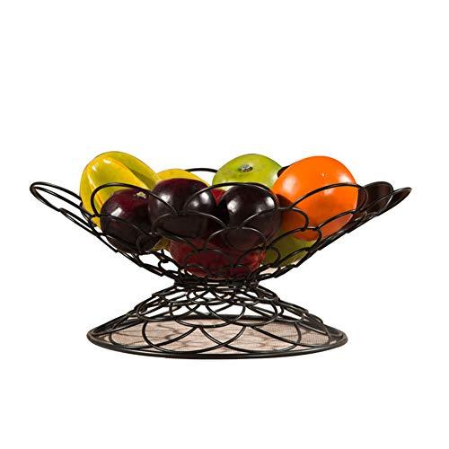 Pan Essentials Basic Fry (ZXJ$Home essential Wrought Iron Fruit Basket Creative Fruit Pots Fashion Fruit Plate Candy Bowl Metal Fruit Basket Cake Pan 32x16x32cm -Food Storage (color : BLACK))