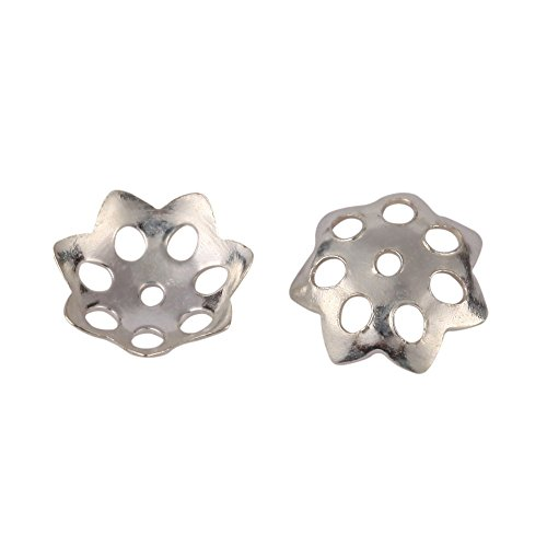 100pcs 925 Sterling Silver 6mm Flowery Round Bead Caps for Jewelry Craft Making Findings SS118