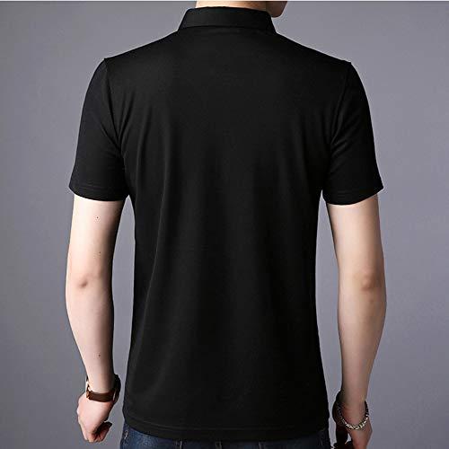POLOtシャツ メンズ カットソー 夏季 半袖 vネック ゴルフ 着こなし スリム スタイリッシュ 快適なPOLOトップス